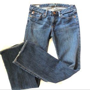Big Star Jeans Mia bootcut size 28R dark wash zip